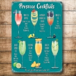 "Metalowa tabliczka retro 15 x 20 cm ""Prosecco Cocktails"""