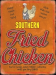 "Metalowa tabliczka retro 30 x 40 cm ""Southern Fried Chicken"""
