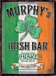 "Metalowa tabliczka retro 30 x 40 cm ""Murphy's Irish Bar"""