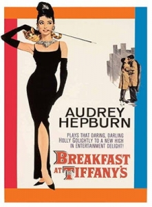 "Metalowa tabliczka retro 30 x 40 cm ""Audrey Hepburn Breakfast at Tiffany's"""