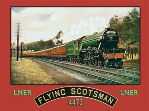 "Metalowa tabliczka retro 30 x 40 cm ""Flying Scotsman'"