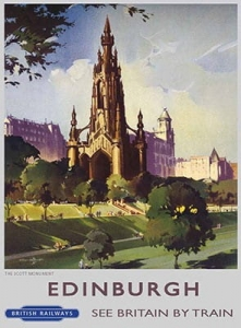 "Metalowa tabliczka retro 30 x 40 cm ""Scott Monument"""