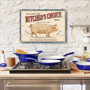 "Metalowa tabliczka retro 15 x 20 cm ""Butchers Choice"""