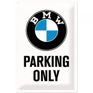"Metalowa tabliczka retro 20 x 30 cm ""BMW Parking Only"""