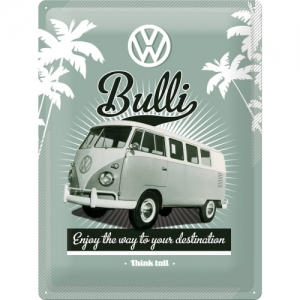 "Metalowa tabliczka retro 30 x 40 cm ""VW  Retro Bulli"""