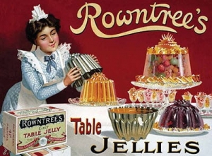 "Metalowa tabliczka retro 30 x 40 cm ""Rowntree's Table Jellies"""