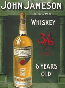 "Metalowa tabliczka retro 15 x 20 cm ""John Jameson Whiskey"""