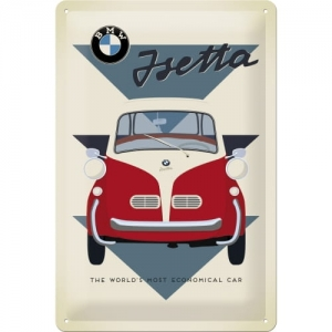 "Metalowa tabliczka retro 20 x 30 cm ""BMW - Isetta Economical Car"""
