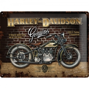 "Metalowa tabliczka retro 30 x 40 cm ""Harley-Davidson Brick Wall"""
