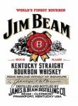 "Metalowa tabliczka retro 15 x 20 cm ""Jim Beam Kentucky Bourbon"""