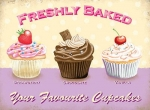 "Metalowa tabliczka retro 15 x 20 cm ""Your Favourite Cupcakes"""