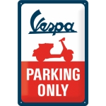 "Metalowa tabliczka retro 20 x 30 cm ""Vespa - Parking Only"""