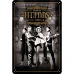 "Metalowa tabliczka retro 20 x 30 cm ""Legends Live Forever"""