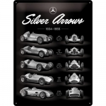 "Metalowa tabliczka retro 30 x 40 cm ""Mercedes-Benz Silver Arrows Chart"""