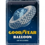 "Metalowa tabliczka retro 30 x 40 cm ""Goodyear - Balloon Tire"""