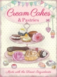 "Metalowa tabliczka retro 30 x 40 cm ""Cream Cakes & Pastries"""