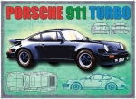"Metalowa tabliczka retro 30 x 40 cm ""Porsche 911 Turbo"""