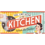"Metalowy szyld retro 25 x 50 cm ""Feel like home in my kitchen"""