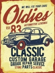 "Metalowa tabliczka retro 30 x 40 cm ""Classic Oldies Automotive Legends"""