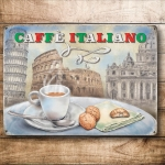 "Metalowa tabliczka retro 15 x 20 cm ""Italian Coffee"""