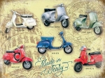 "Metalowa tabliczka retro 30 x 40 cm ""Vespa Collage"""