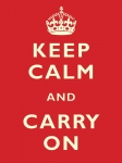 "Metalowa tabliczka retro 15 x 20 cm ""Keep Calm & Carry On"""