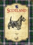 "Metalowa tabliczka retro 15 x 20 cm ""Scotland Scottie Dog - Vintage"""