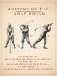 "Metalowa tabliczka retro 15 x 20 cm ""Anatomy of Golf Swing"""