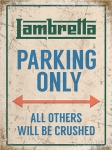 "Metalowa tabliczka retro 30 x 40 cm ""Lambretta Parking Only"""