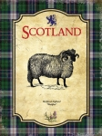 "Metalowa tabliczka retro 15 x 20 cm ""Scotland Sheep - Vintage"""