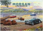 "Metalowa tabliczka retro 30 x 40 cm ""Morgan exhilaration"""