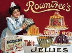 "Metalowa tabliczka retro 15 x 20 cm ""Rowntree's Table Jellies"""