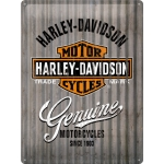 "Metalowa tabliczka retro 30 x 40 cm ""Harley-Davidson - Metal Wall"""