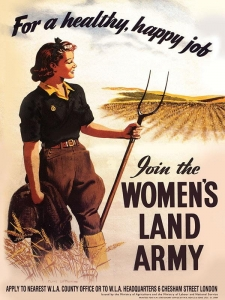"Metalowa tabliczka retro 15 x 20 cm ""Women Land Army"""
