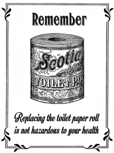 "Metalowa tabliczka retro 15 x 20 cm ""Remember (Toilet Roll)"""