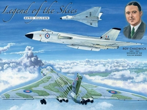 "Metalowa tabliczka retro 30 x 40 cm ""Legend of the Skies: Avro Vulcan"""