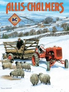 "Metalowa tabliczka retro 30 x 40 cm ""Allis Chalmers"""