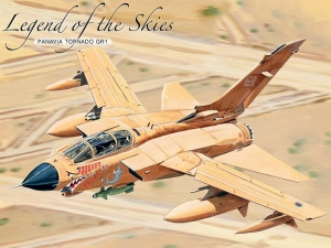 "Metalowa tabliczka retro 30 x 40 cm ""Panavia Tornado GR1 Legend Of The Skies"""