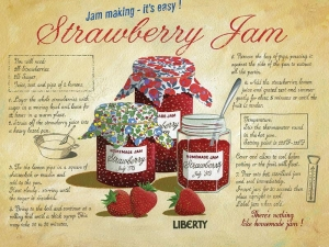 "Metalowa tabliczka retro 15 x 20 cm ""Strawberry Jam"""