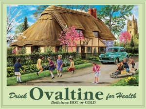 "Metalowa tabliczka retro 15 x 20 cm ""Ovaltine Drink"""