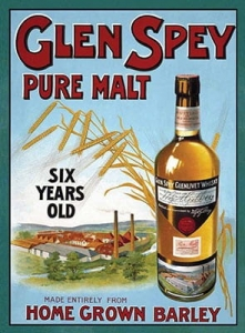 "Metalowa tabliczka retro 15 x 20 cm ""Glen Spey Pure Malt"""
