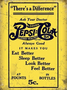 "Metalowa tabliczka retro 15 x 20 cm ""Pepsi Cola - Ask Your Doctor"""