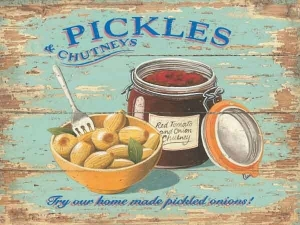 "Metalowa tabliczka retro 15 x 20 cm ""Pickles"""