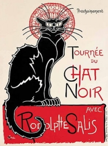 "Metalowa tabliczka retro 30 x 40 cm ""Tournee du Chat Noir"""