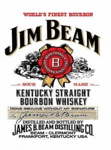 "Metalowa tabliczka retro 30 x 40 cm ""Jim Beam Kentucky Bourbon"""