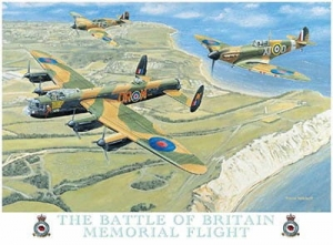 "Metalowa tabliczka retro 30 x 40 cm ""Battle of Britain - Memorial Flight"""