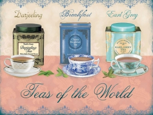 "Metalowa tabliczka retro 15 x 20 cm ""Teas of the World"""