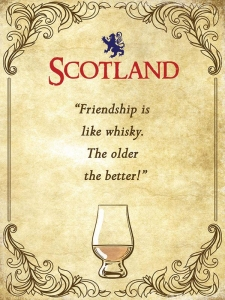 "Metalowa tabliczka retro 15 x 20 cm ""Scotland Friendship Quote"""