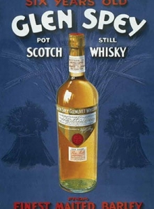 "Metalowa tabliczka retro 15 x 20 cm ""Glen Spey Scotch Whisky"""