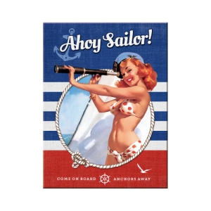 "Magnes na lodówkę ""Pin Up - Ahoy Sailor"""